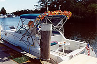 boat on peconic river